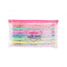 Set of 6 coloured pens - Do it with love