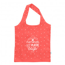 Bolsa de la compra plegable rosa - Collect memories, not plastic bags