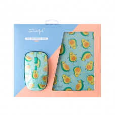 Mouse and mousepad set - Avocados