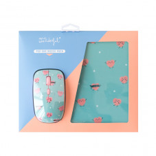 Mouse and mousepad set - Hearts
