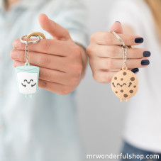 Set of 2 keyrings for sweet couples who are made for each other