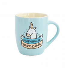 Blue mug - Nothing is impossible (ENG)