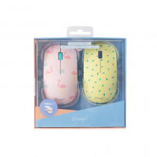 Wireless mouse with 2 covers - Flamingos