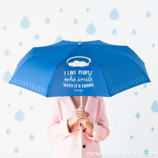 Medium umbrella - I like people who smile when it's raining