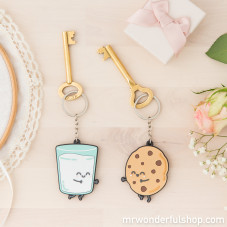 Set of 2 key-rings - For sweet couples who are made for each other (ENG)