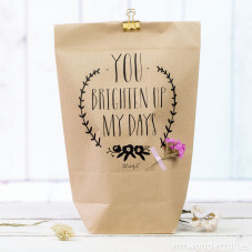 Pack de 5 bolsas kraft - You brighten up my days