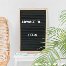 Letter board grande negro
