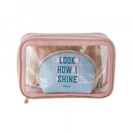 Set of 3 toiletries bags - Look how I shine!