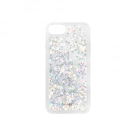 Transparent glitter case for iPhone 6/7/8 - Unicorns