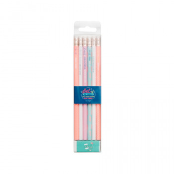Set of 6 pencils with never-ending batteries