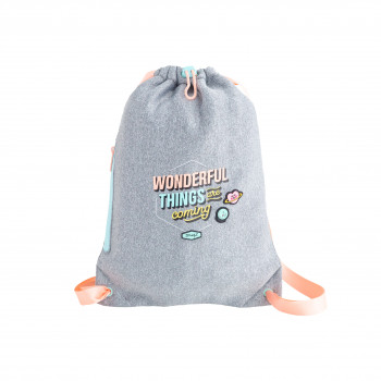 Small sack bag - Wonderful things are coming