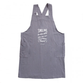 Japanese apron - Smiling is an art and the key to a happy heart