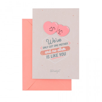 Greetings card – We've only got one mother and no other is like you