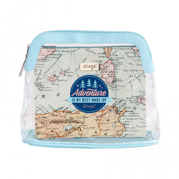 Set of 2 toiletries bags - Adventure is my best make-up