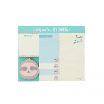 Set of sticky notes sloth Slow Collection - My siesta is my fiesta