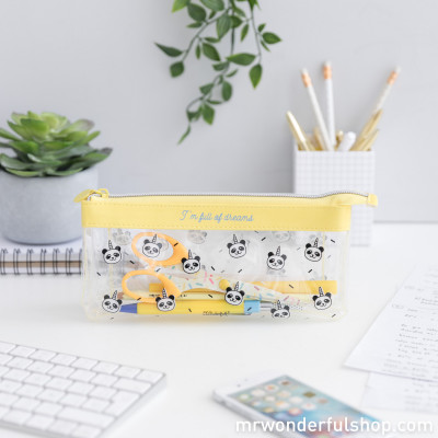 Three-part pencil case - I'm full of dreams