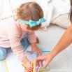 Turbante elástico infantil con lazo Beter - Aguacate