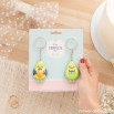 Set of two keyrings for wedding - Avocado