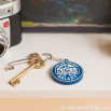 A rubber keyring - For great fathers (ENG)