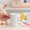 """Mug """"For my best partner in laughs, frolics and getting all tired out together. Hurray for friends!"""" (ENG)"""