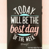 iPhone 5/5S/5SE case - Today will be the best day of the week (ENG)