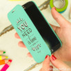 Samsung Galaxy S4 mint case - All you need is love and wifi
