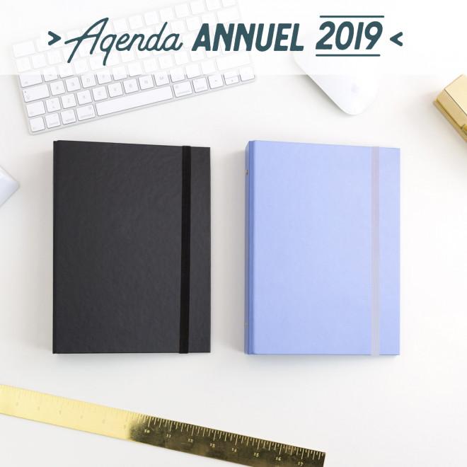 Agenda hebdomadaire à anneaux 2019