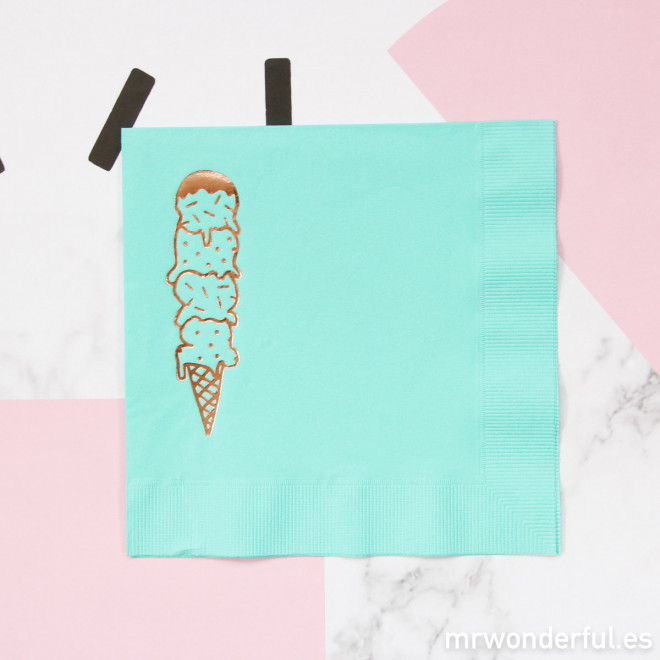 Serviettes papier couleur mint   Ice cream   Mr. Wonderful