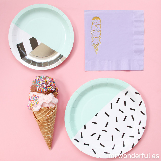 Serviettes papier violet  - Ice cream