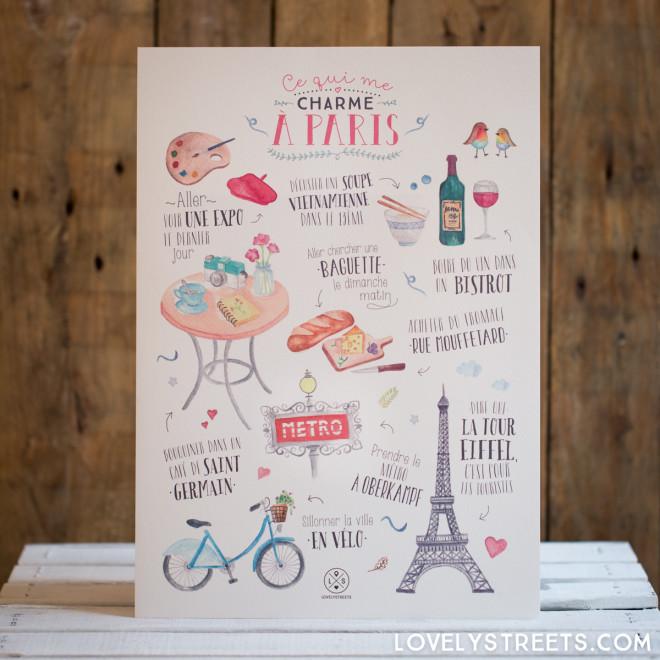 Affiche Lovely Streets - Ce qui me charme à Paris