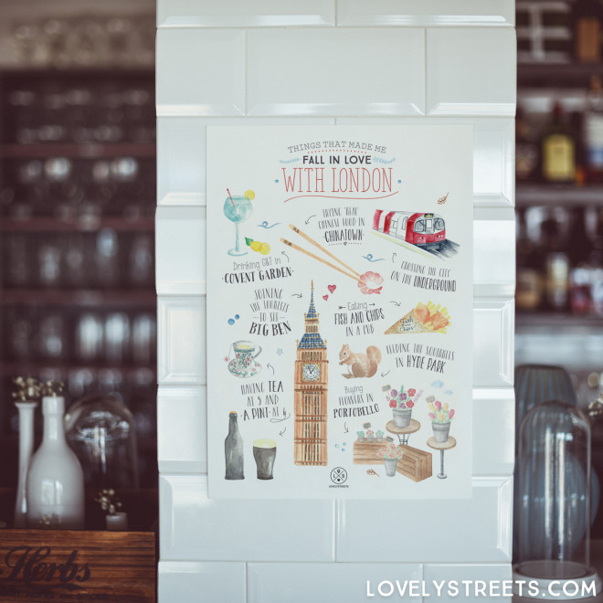 Affiche Lovely Streets - Things that made me fall in love with London (ENG)