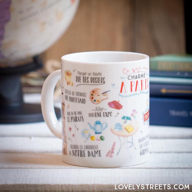 Mug Lovely Streets - Ce qui me charme à Paris