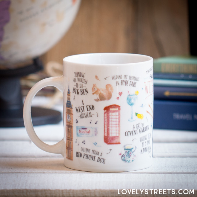 Mug Lovely Streets - Things that made me fall in love with London (ENG)