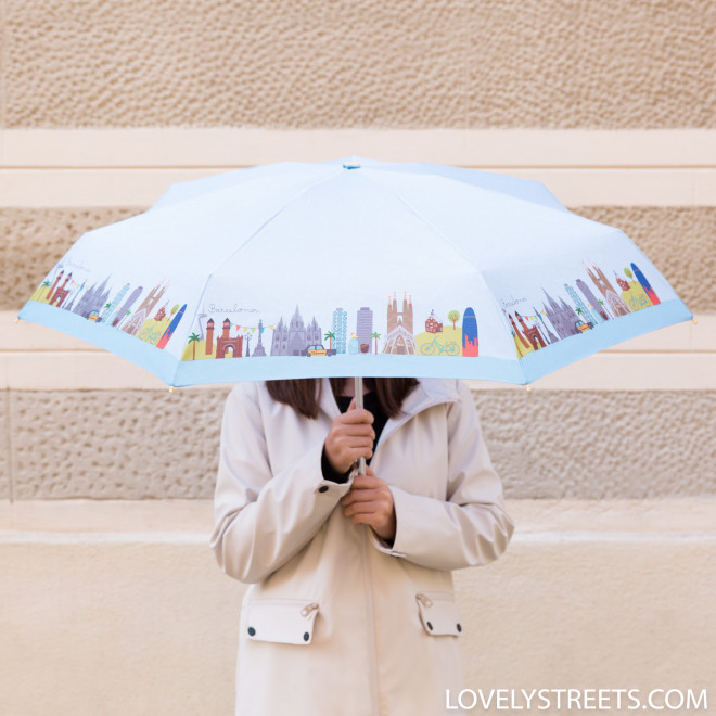 Parapluie petit Lovely Streets - Barcelona (FR)