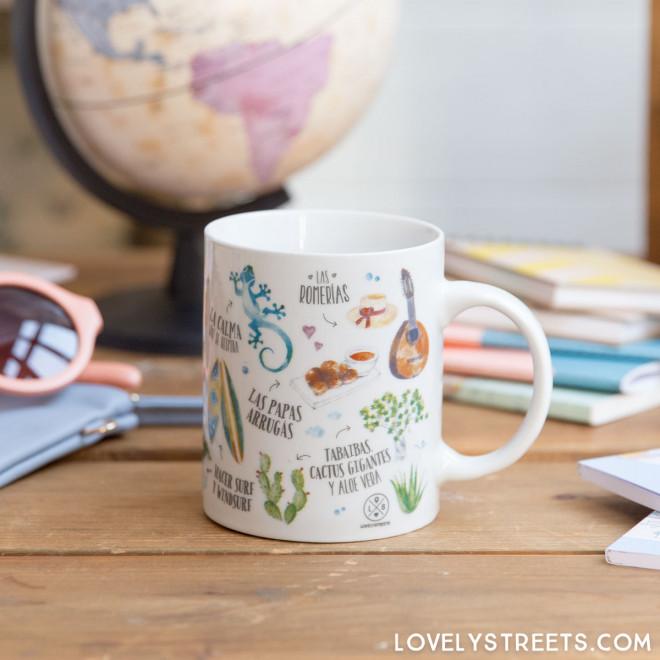 Mug Lovely Streets - Lo que me enamora de Canarias