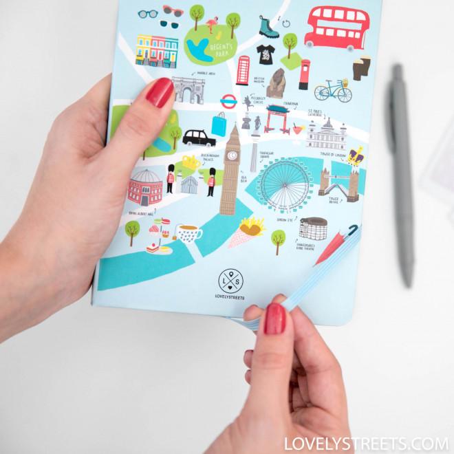 Libreta con ilustraciones de Londres