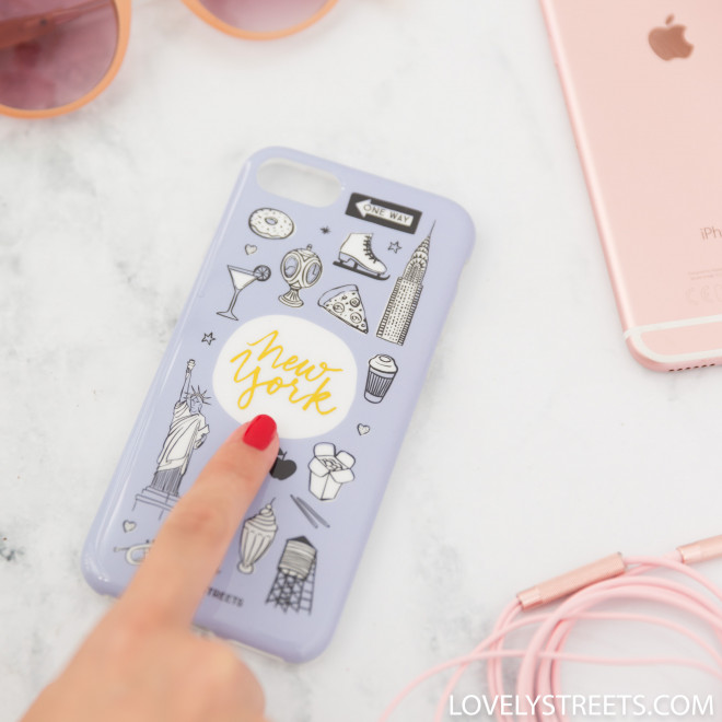 Coque Lovely Streets pour iPhone 7 - New-York