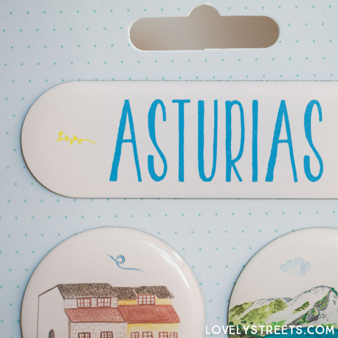 Aimants Lovely Streets - Asturias