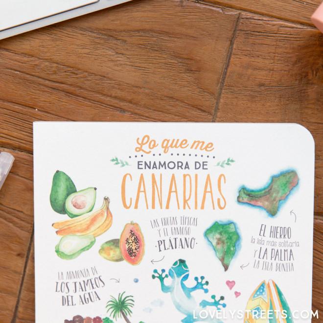 Carnet Lovely Streets - Lo que me enamora de Canarias