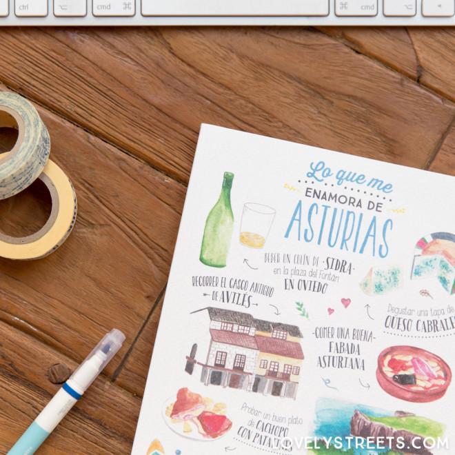 Carnet Lovely Streets - Lo que me enamora de Asturias