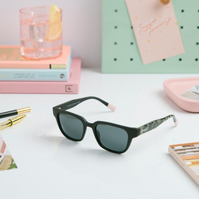 Gafas de sol Image inyección cuadradas - Negro + habana negro