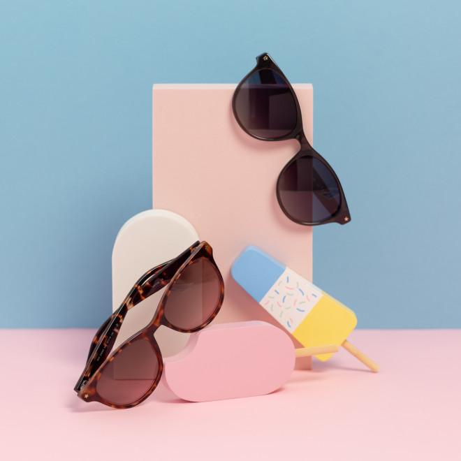 Gafas de sol Casual inyección - Gris oscuro
