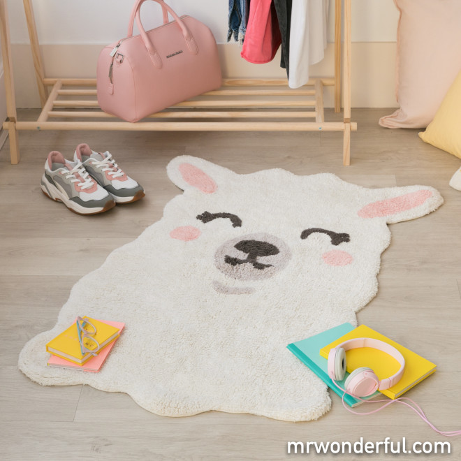 Alfombra lavable Lorena Canals - Smile like a llama