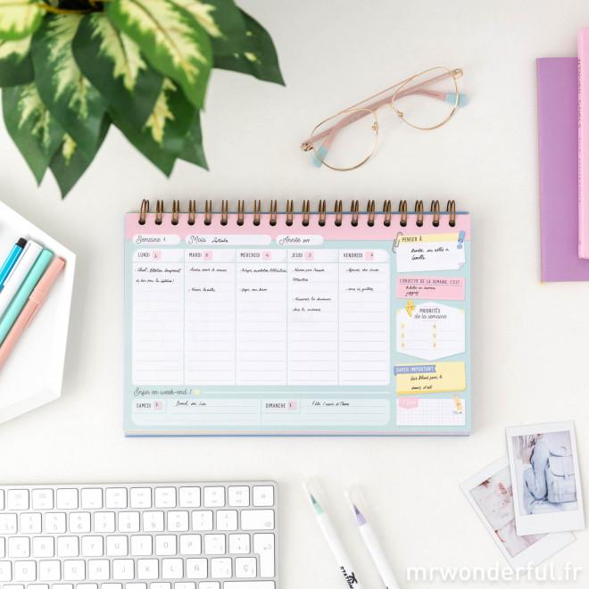 Planning pour organiser tes semaines - Je gère !