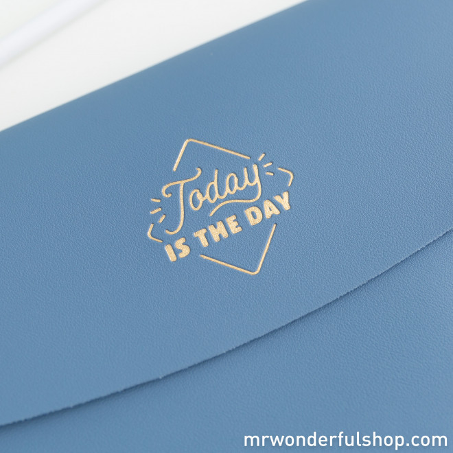 Blue double wristlet - Today is the day