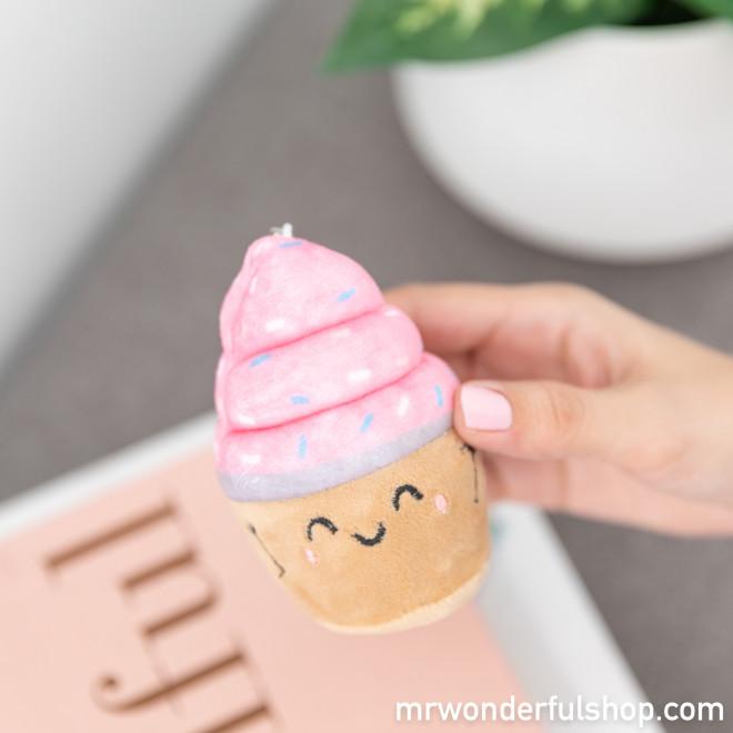 Porte-clés peluche squishy - Cupcake