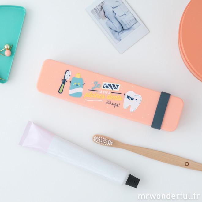 Étui brosse à dents - Je croque la vie à pleines