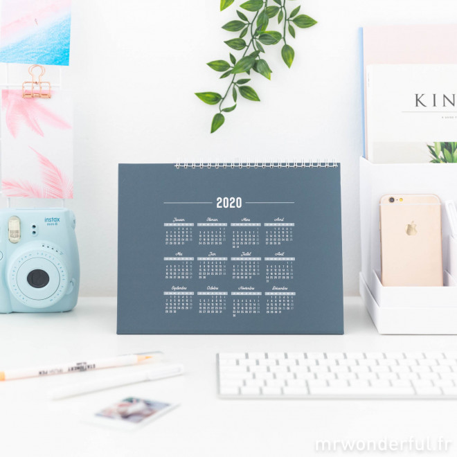 Calendrier de bureau - En 2020, de grands projects