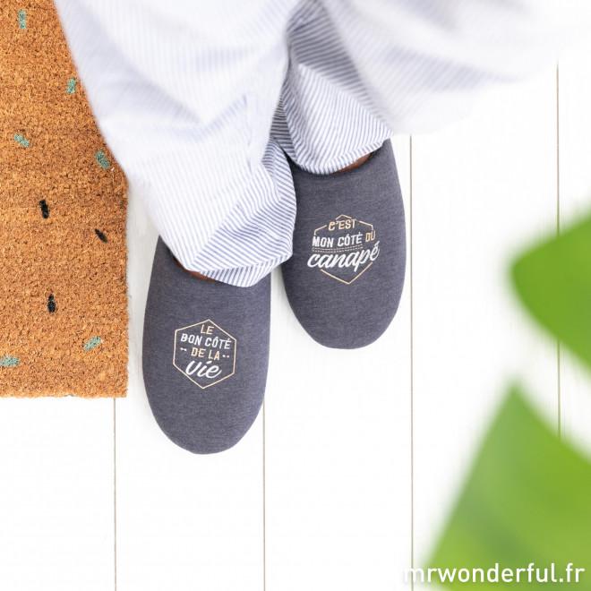 Chaussons pointure 44-47 - Le bon côté de la vie