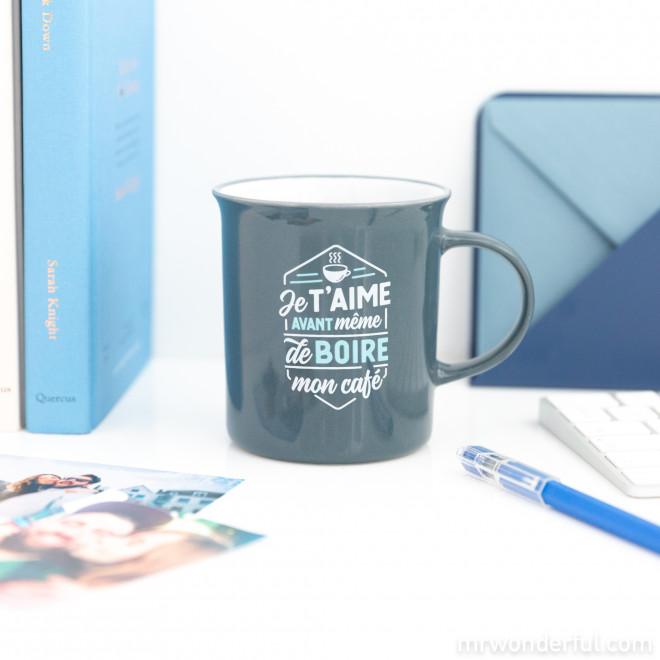 Mug - Je t'aime avant même de boire mon café